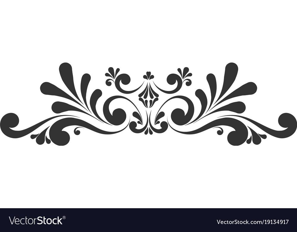 decorative floral monogram royalty free vector image