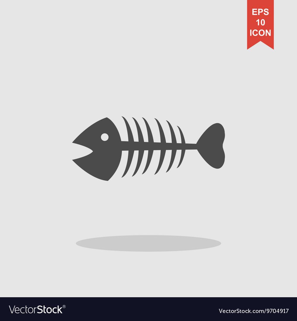 Fish skeleton Flat
