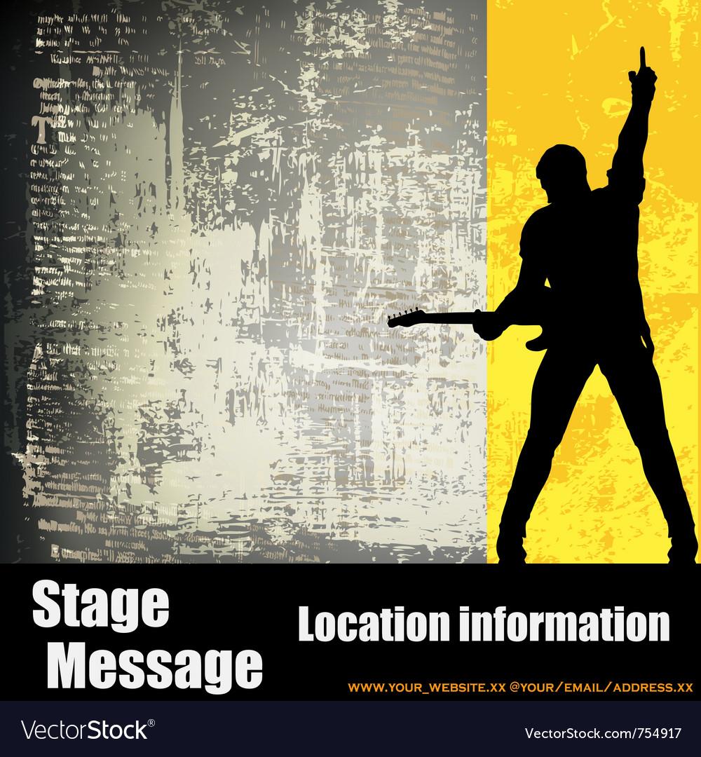 Guitarist background vector image