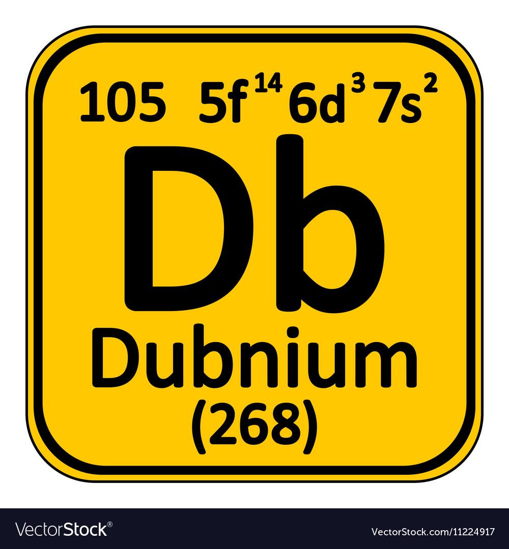 Periodic table element dubnium icon royalty free vector periodic table element dubnium icon vector image urtaz Images