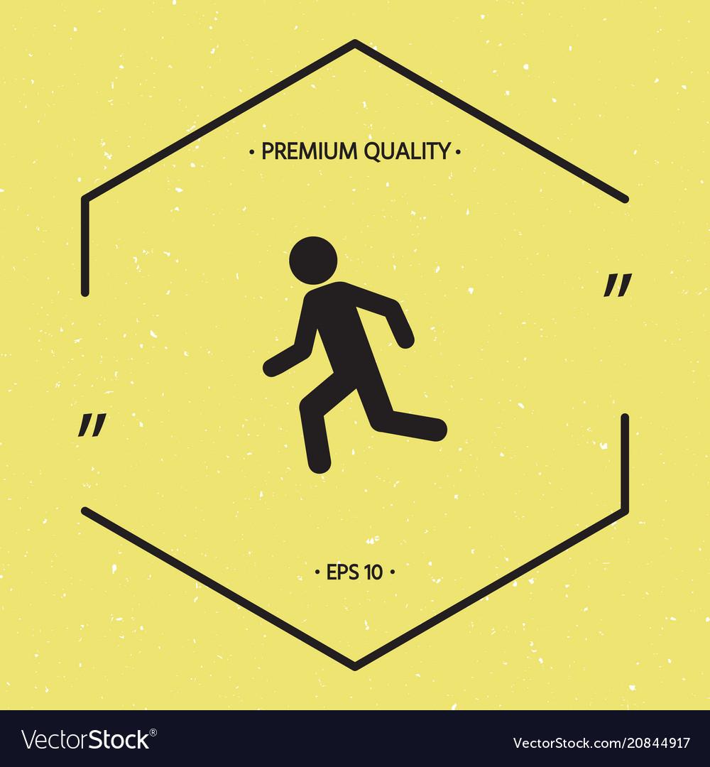 Running man run icon