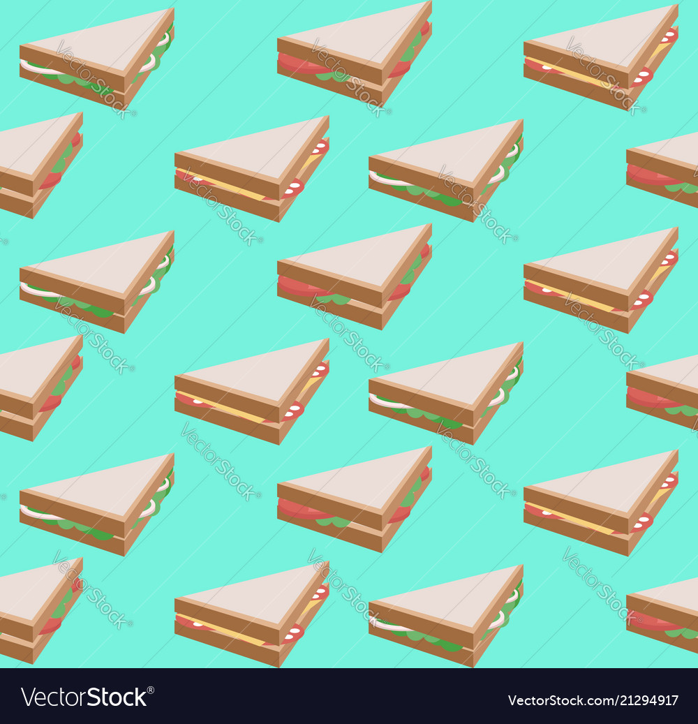 Seamless texture with isometric flat sandwich