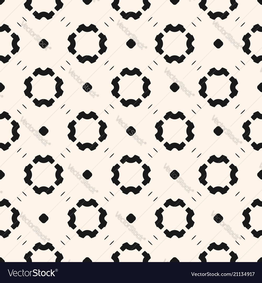 Simple minimalist monochrome floral pattern