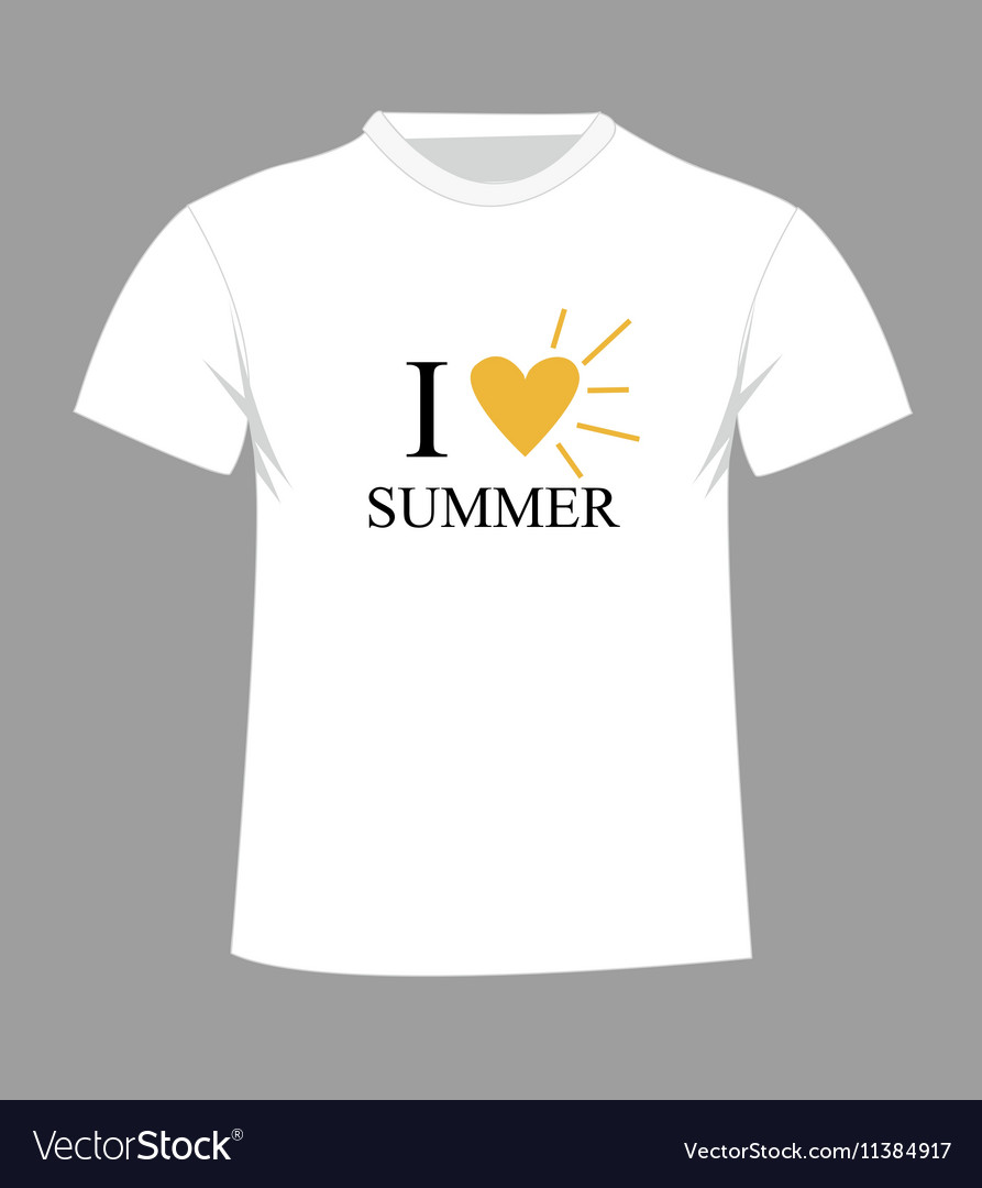 T Shirt Template Front And Back Royalty Free Vector Image
