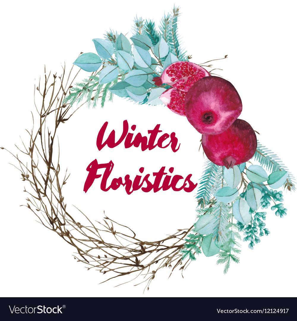 Watercolor Floristic Composition