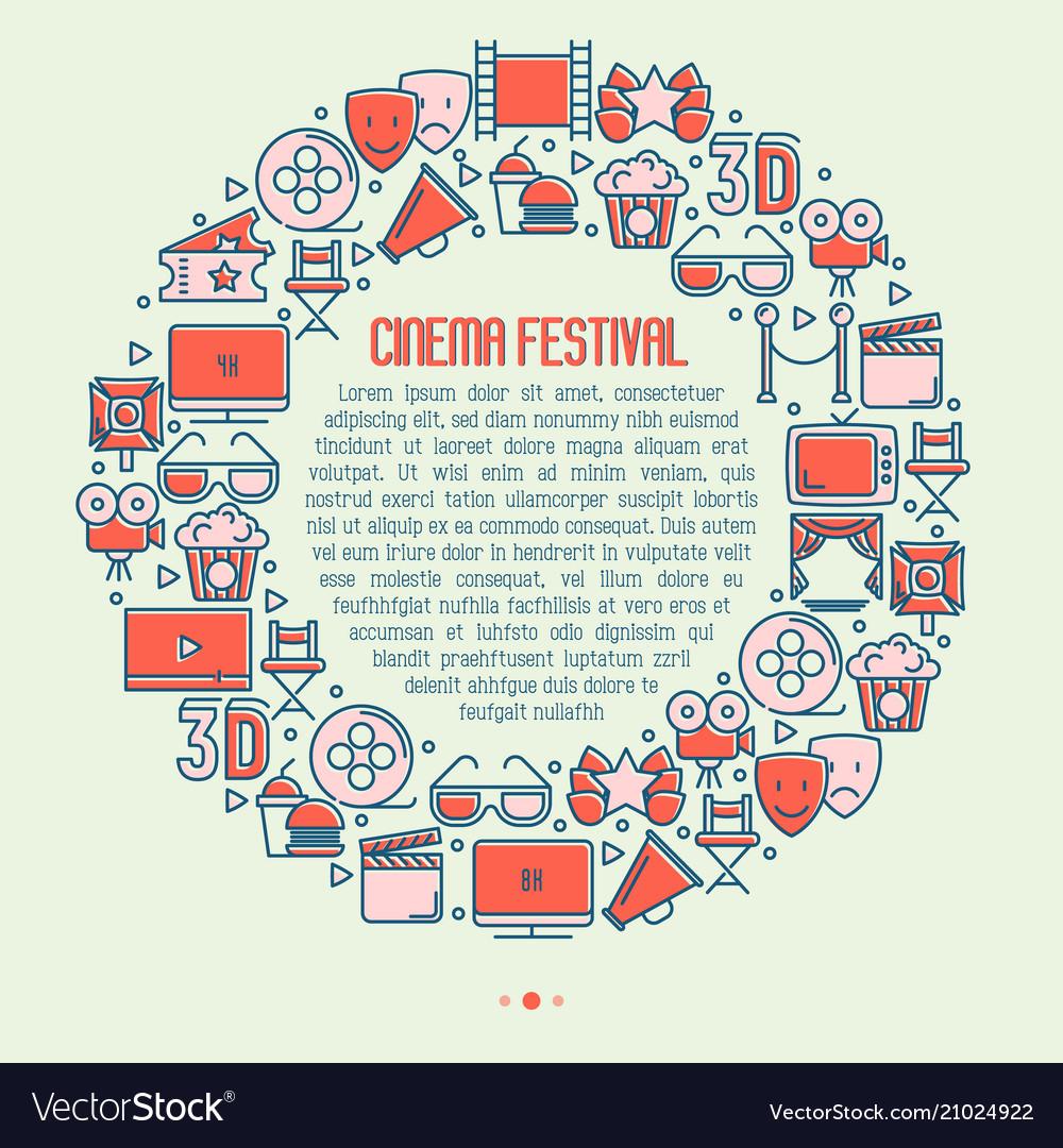Cinema festival concept in circle
