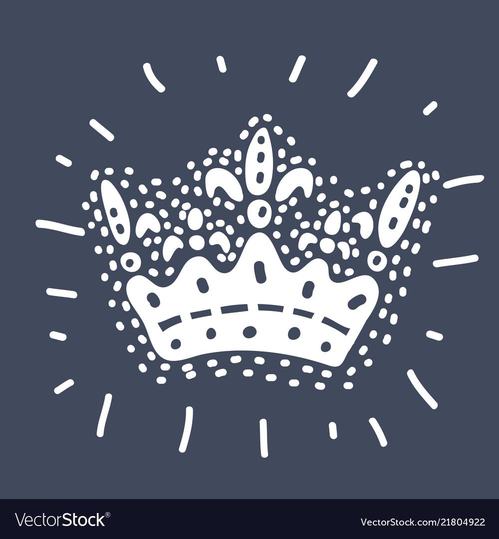 Crown on dark background