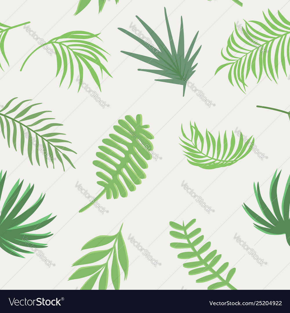 Exotic green branch seamless white background