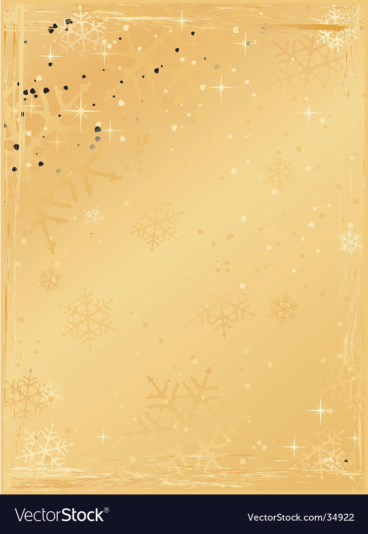 golden vertical grunge christmas background vector image