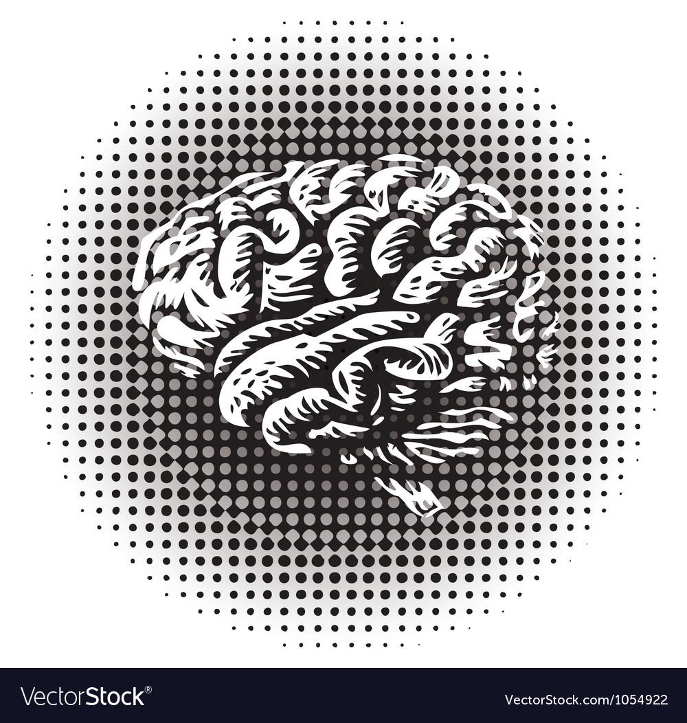 Halftone brain