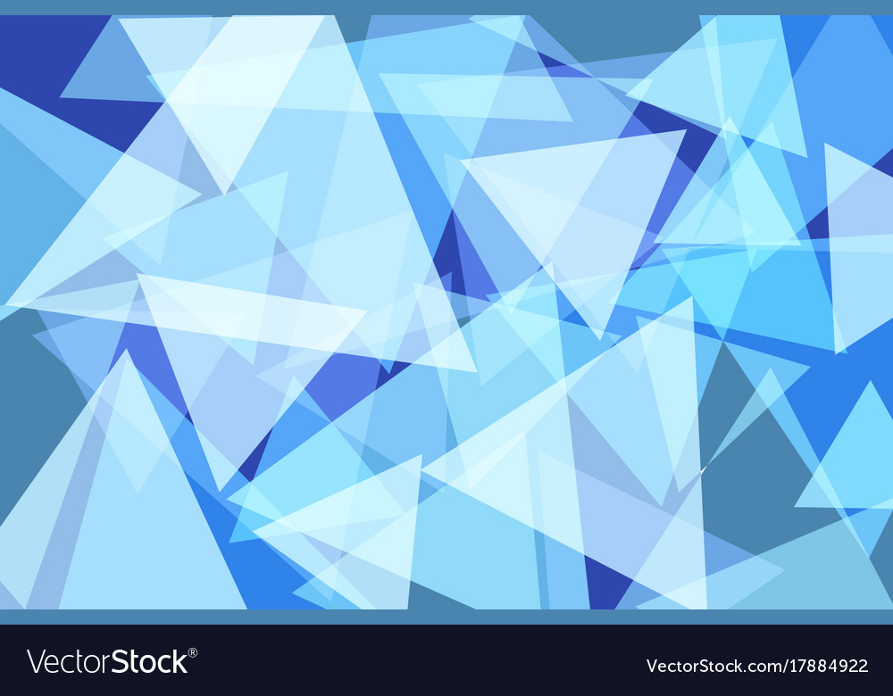 Light Blue Triangle Abstract Background
