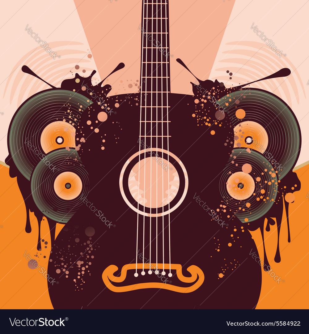 Retro Guitar Poster2