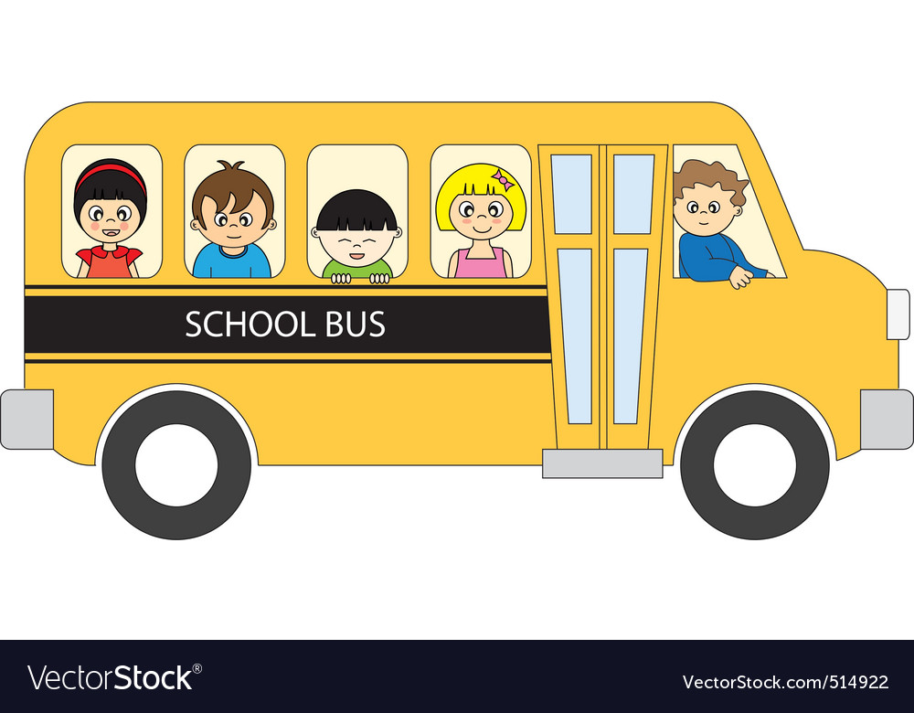 school bus royalty free vector image vectorstock rh vectorstock com school bus vector file school bus vector black and white