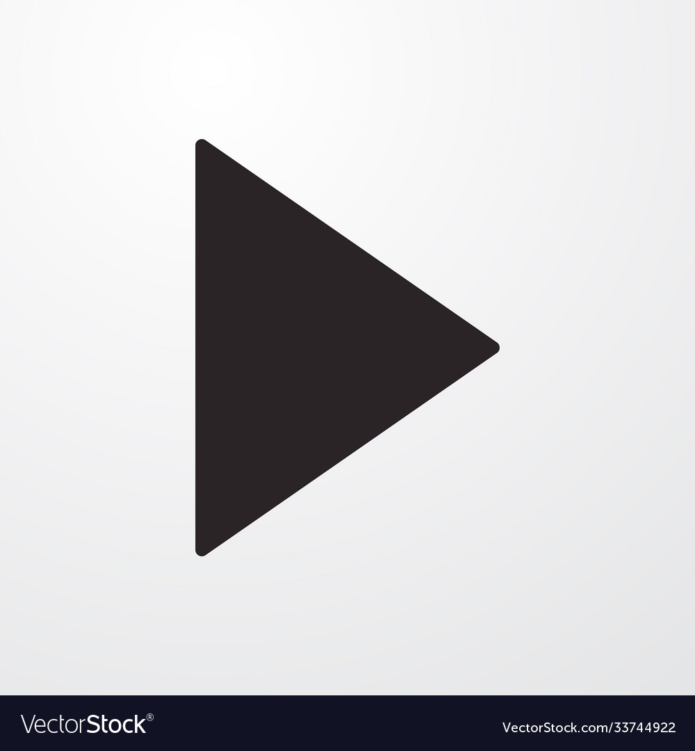 Video music play sign icon flat design sty