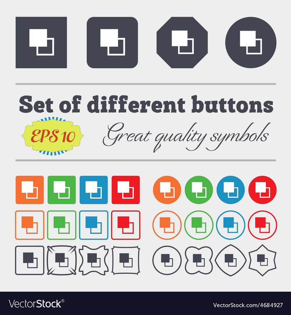 Active color toolbar icon sign Big set of colorful