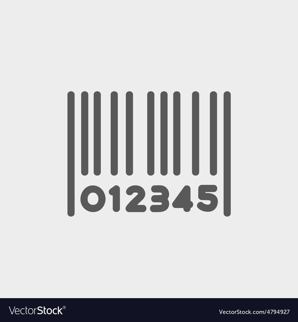 Barcode thin line icon