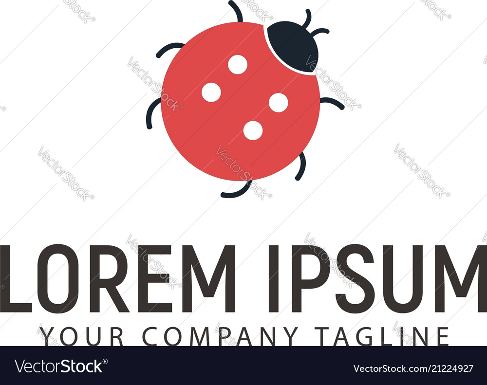 Beetle logo design concept template