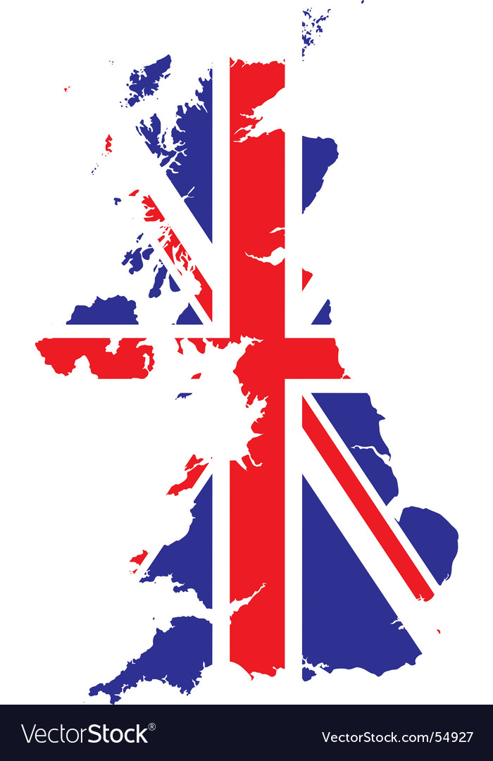 British flag and map royalty free vector image - Uk flag images free ...
