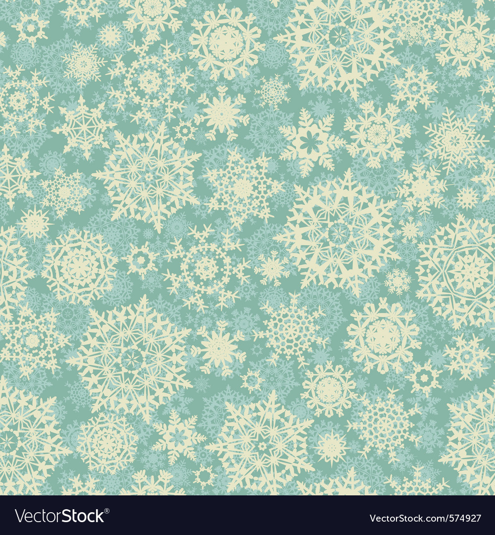 Christmas snowflake background pattern vector image