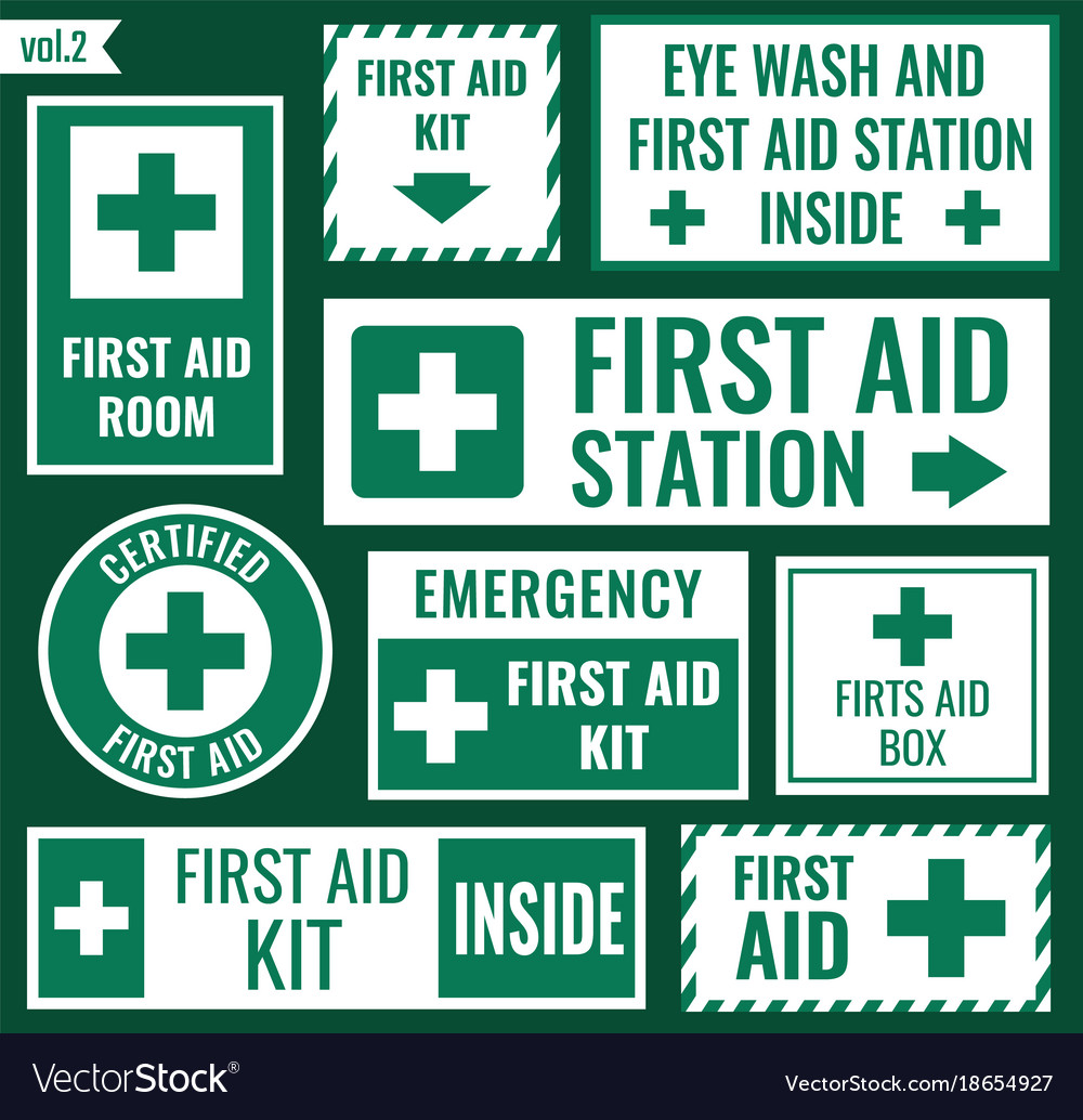 First aid sign set vector image
