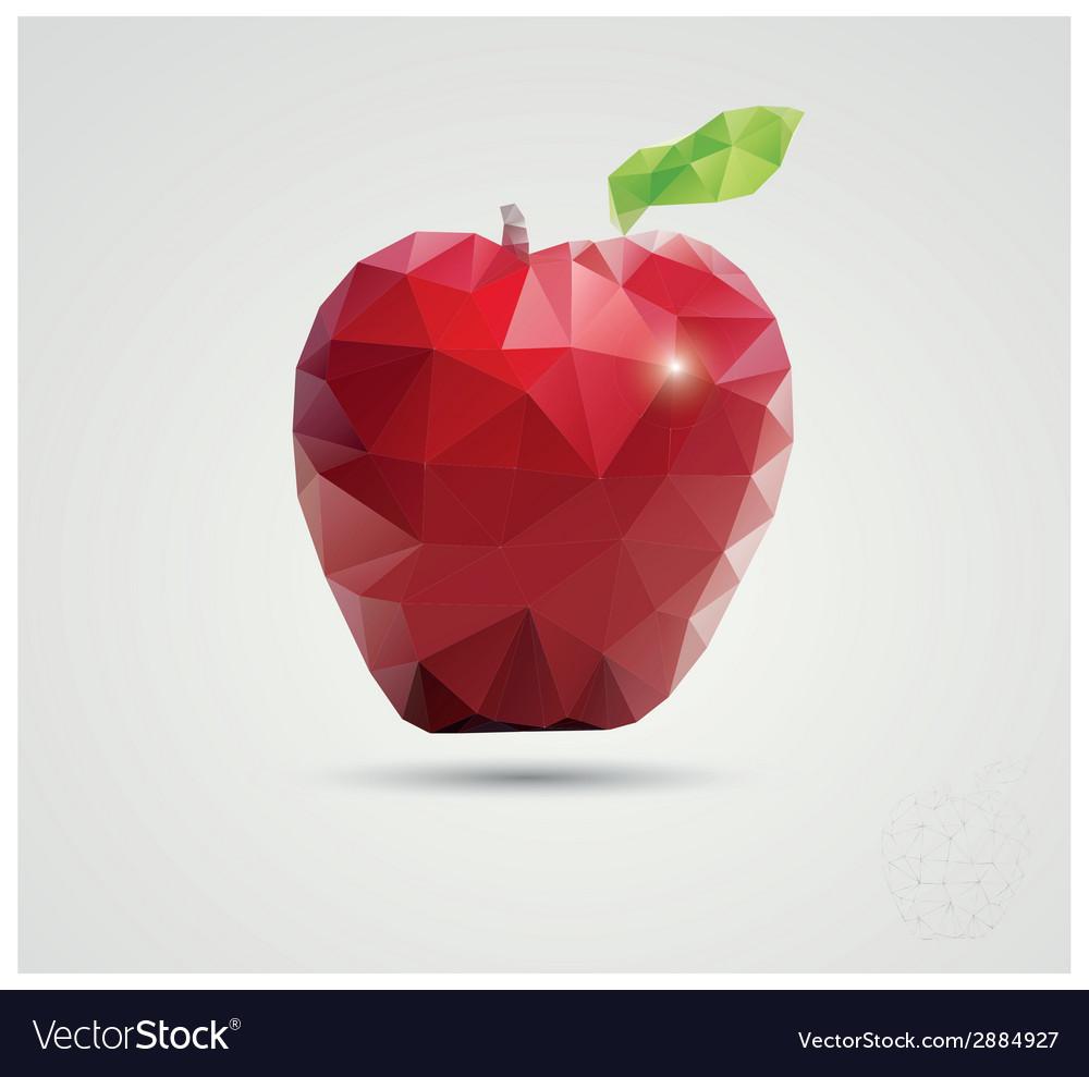 Geometric polygonal fruit triangles apple