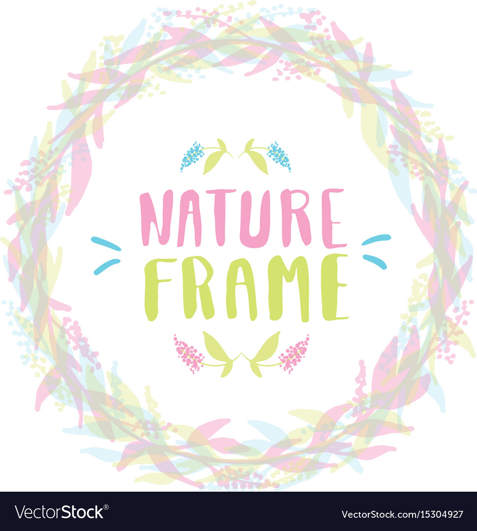 Nature frame for your design with flowers