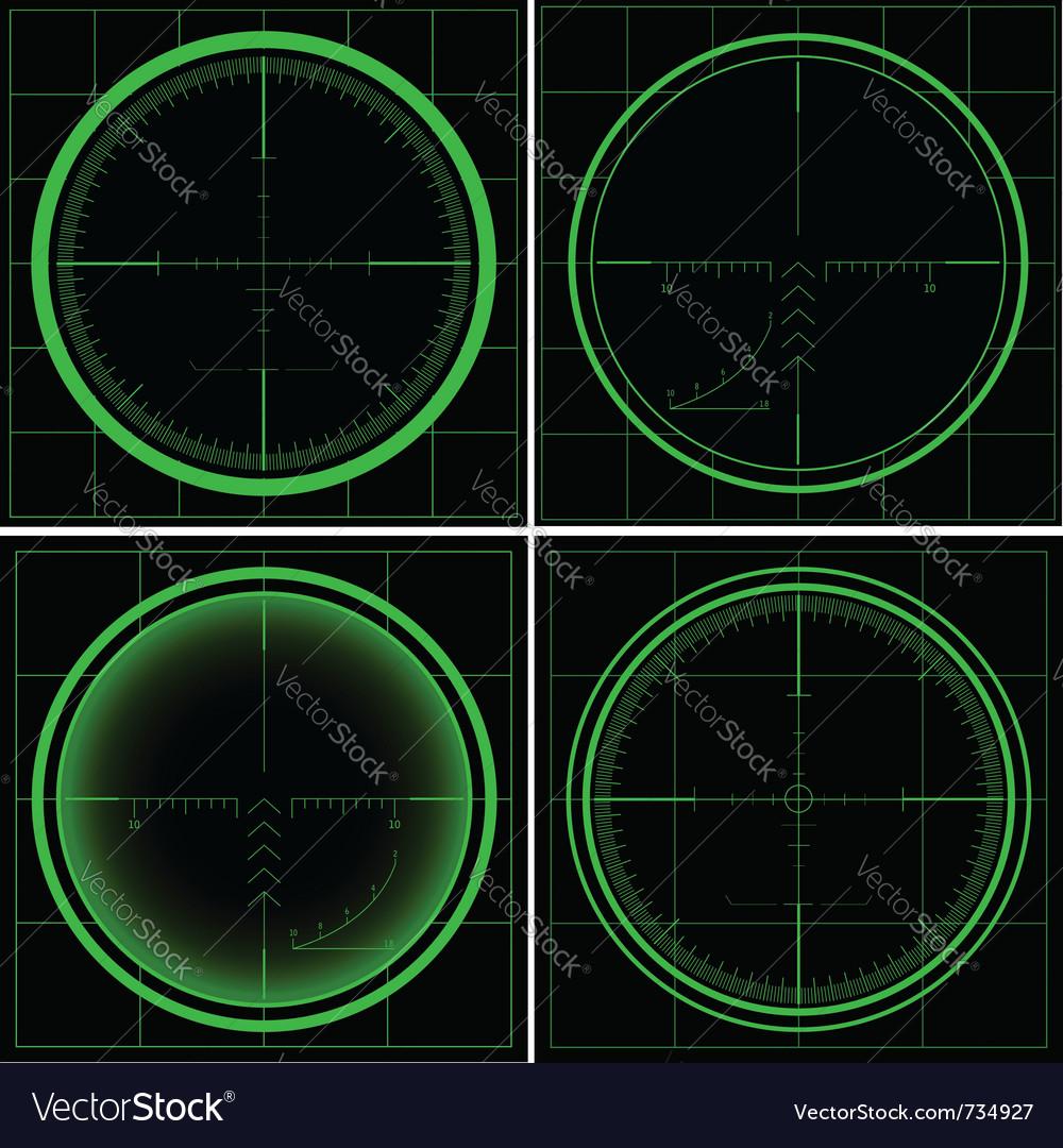 Radar screen or sniper sight vector image
