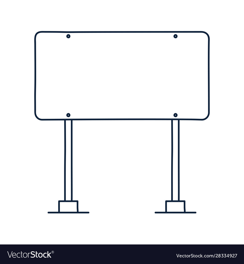 Rectangle road traffic sign icon in outline