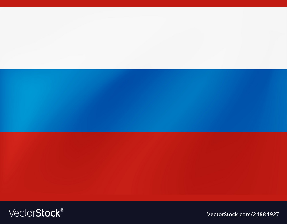 Russian national flag with wavy texture
