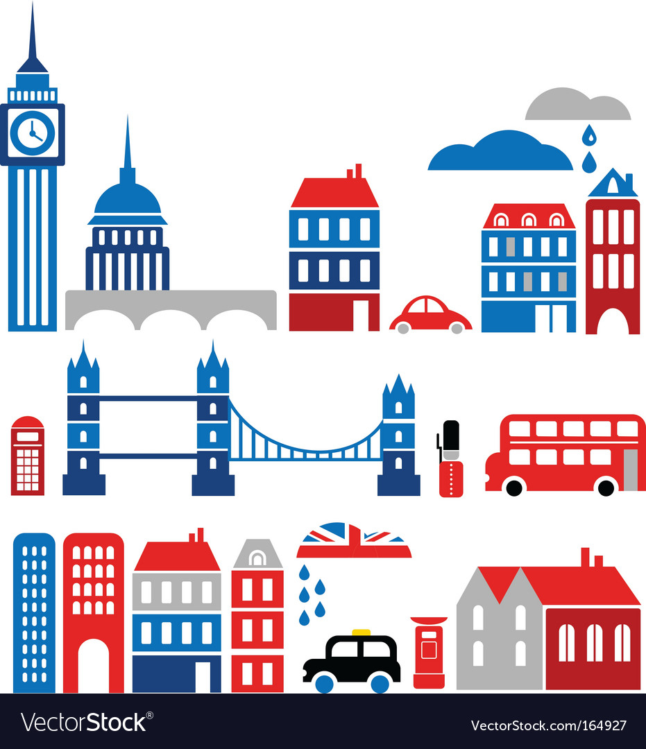 Silhouettes of european cities lond0n
