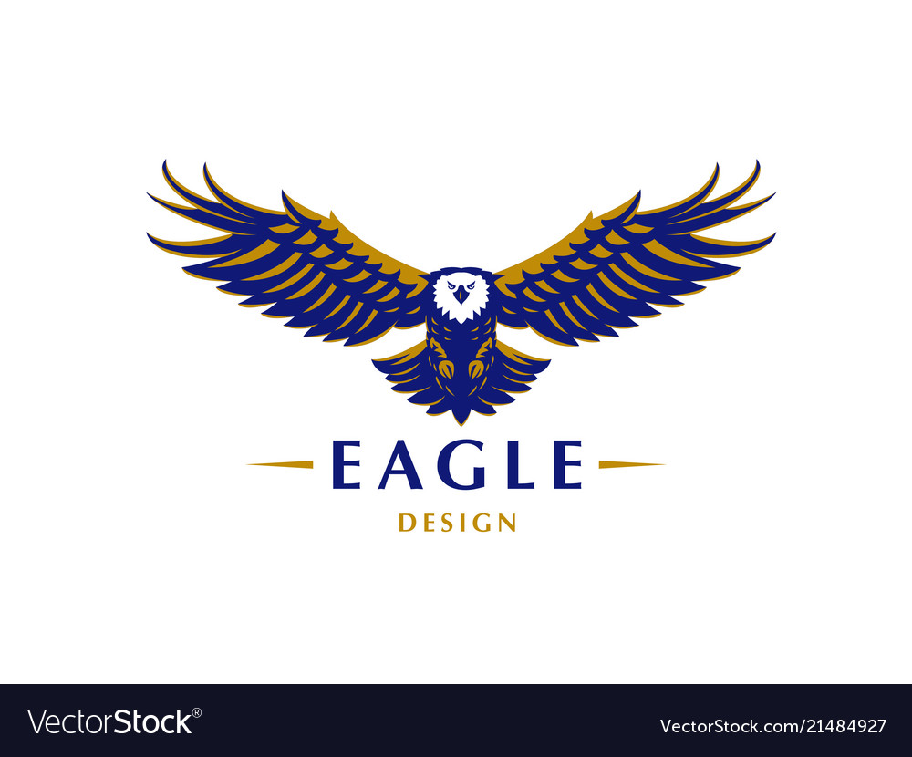 The Flying Eagle Royalty Free Vector Image Vectorstock