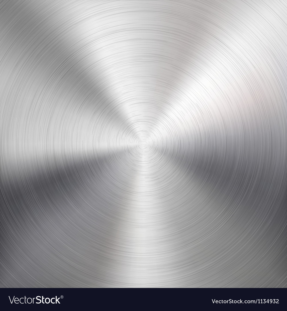Background with Circular Metal Brushed Texture vector image
