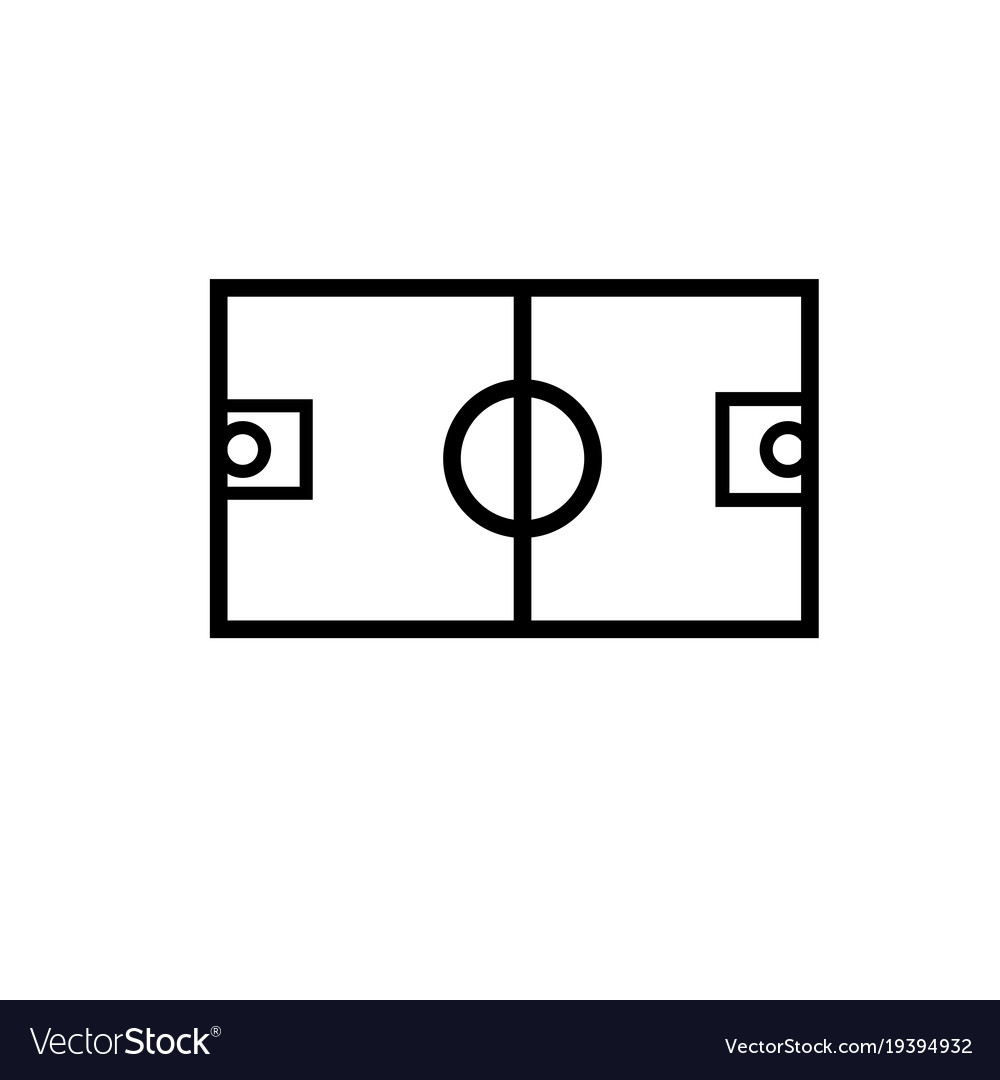 Basketball field icon
