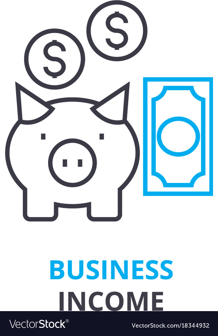 Business income concept outline icon linear