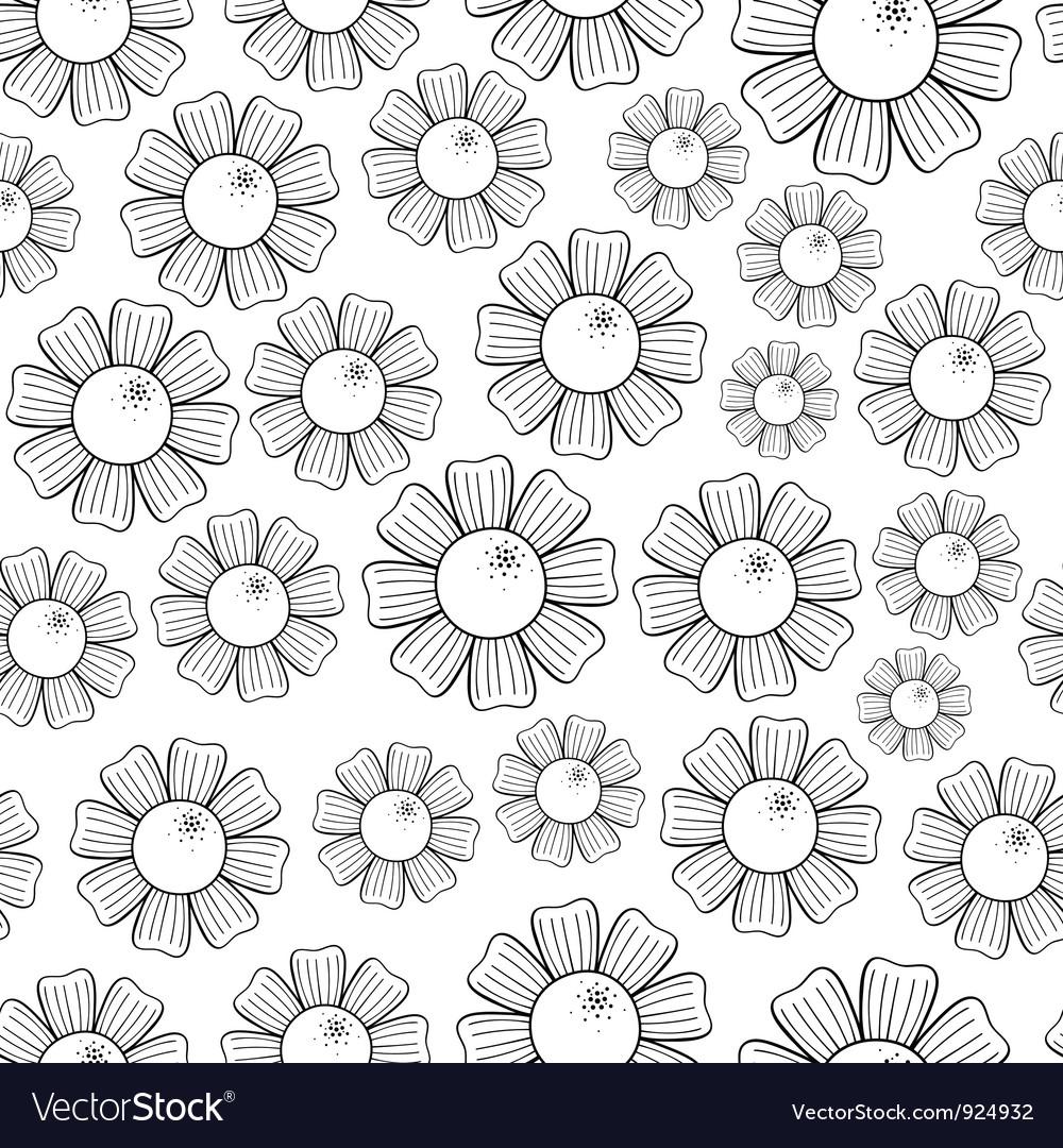 Camomiles seamless pattern