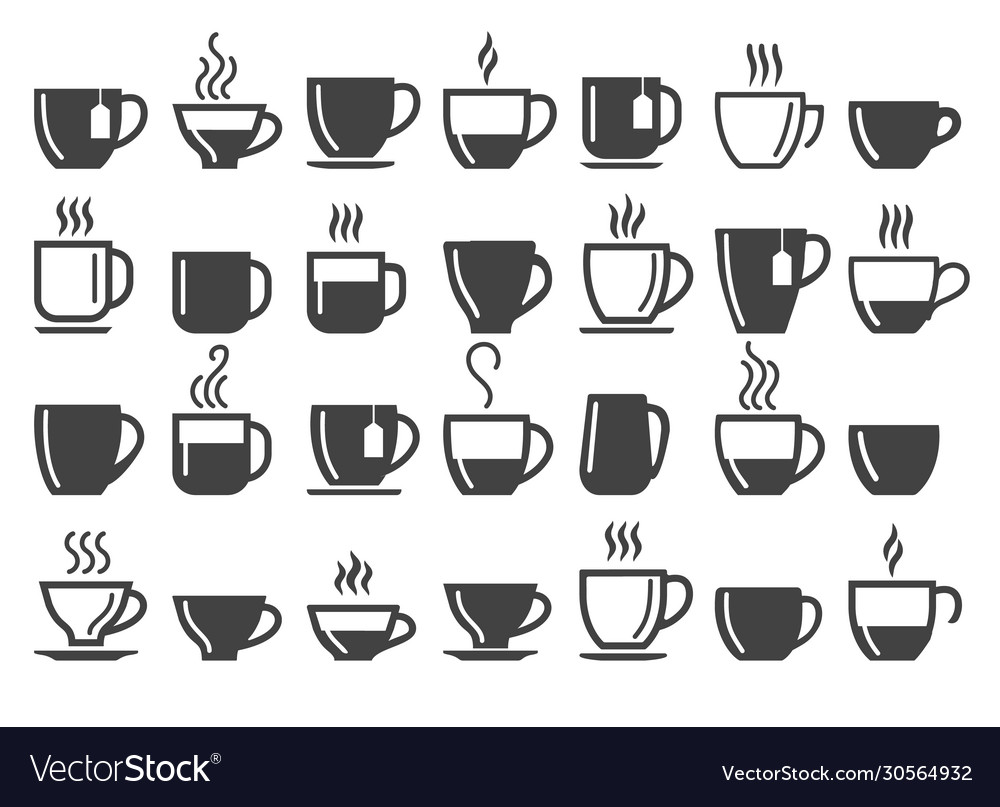 Coffee and tea beverage cups