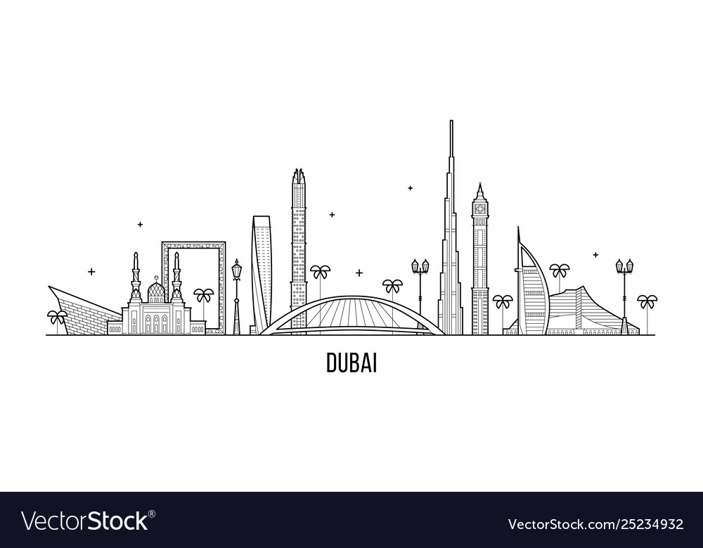 Dubai skyline united arab emirates uae city
