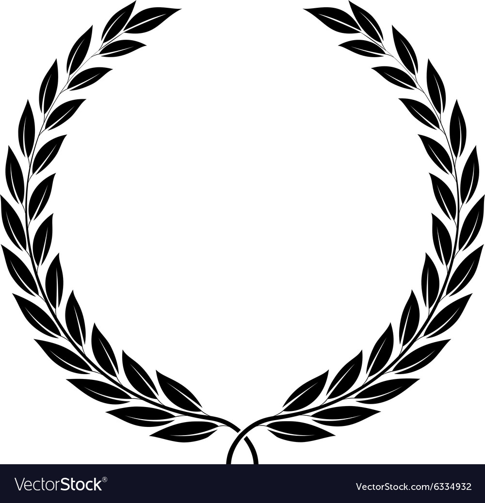 Laurel Wreath Symbol Of Victory And Achievement Vector Image
