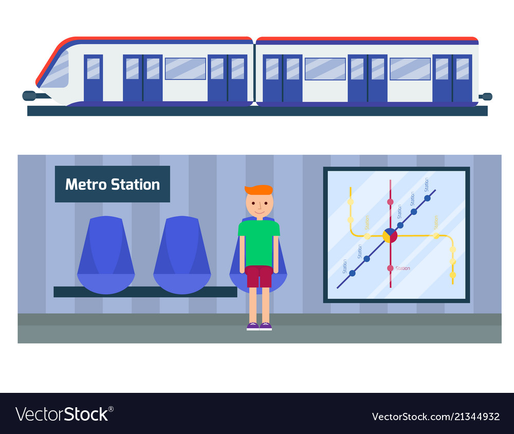 Metro station transportation modern railroad trip