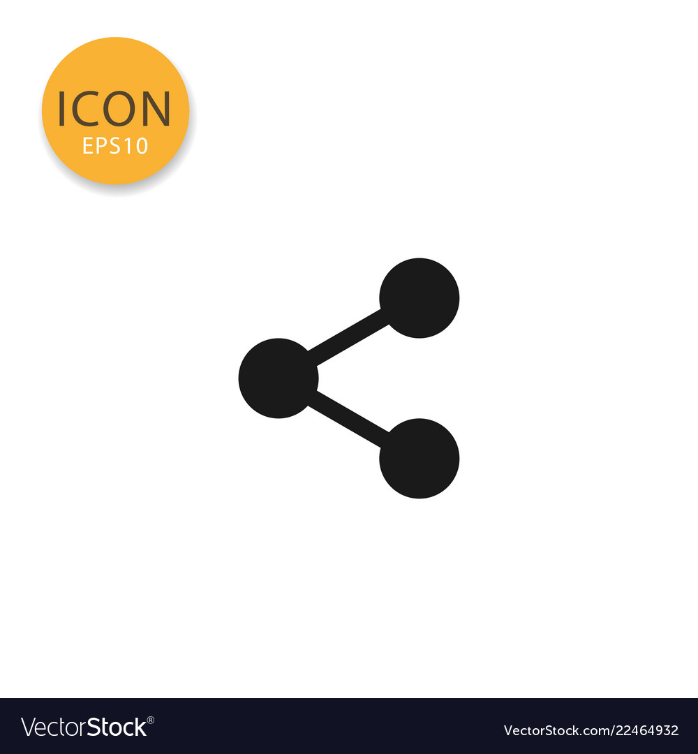 Share icon isolated flat style