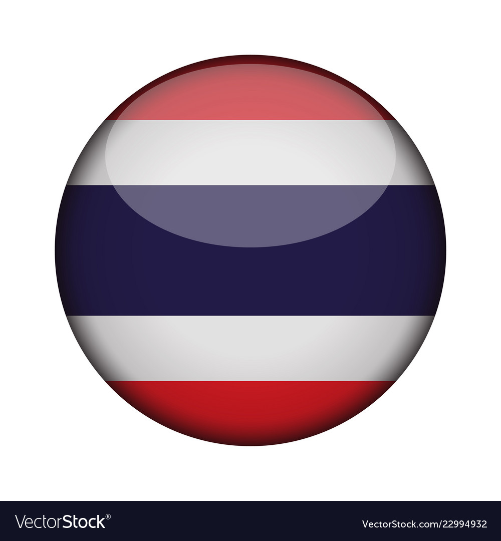 Thailand Flag In Glossy Round Button Of Icon