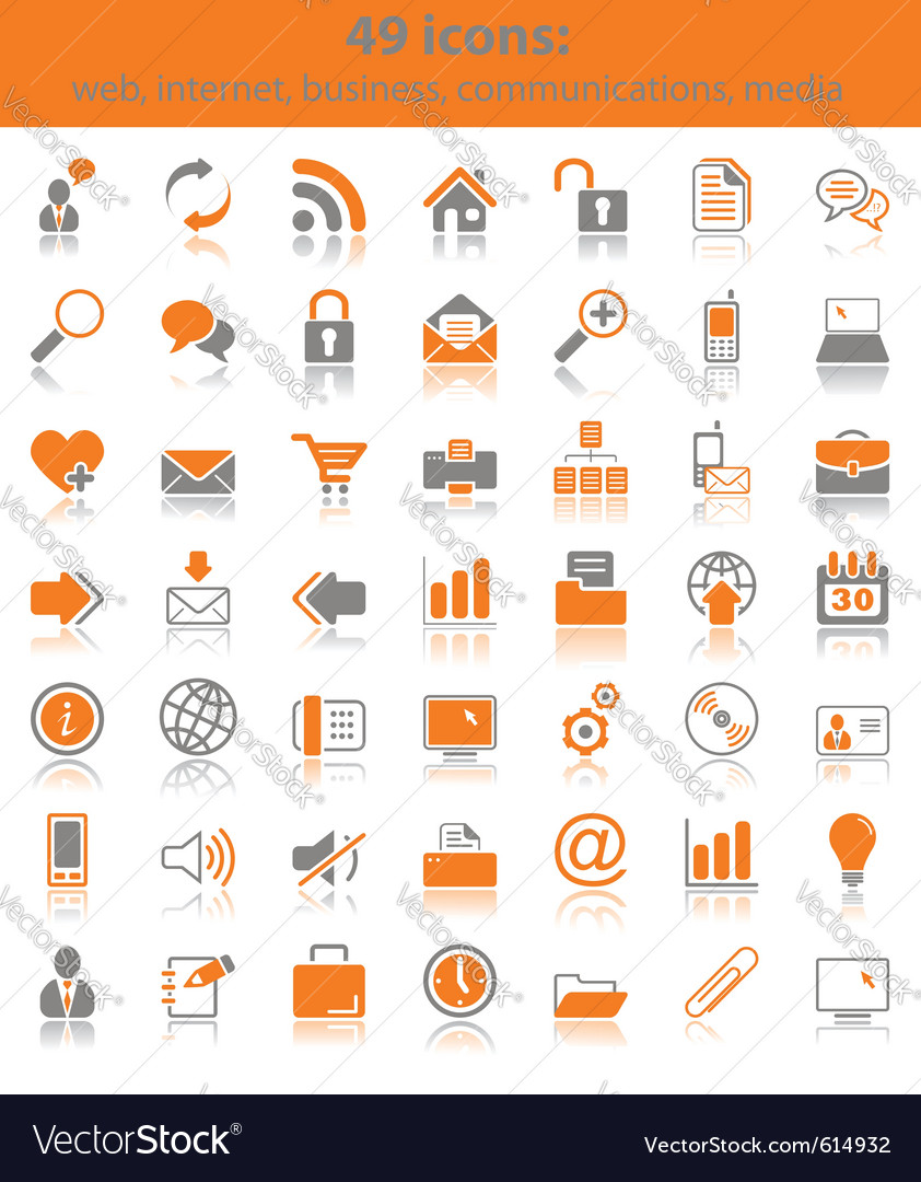 Web media icons vector image
