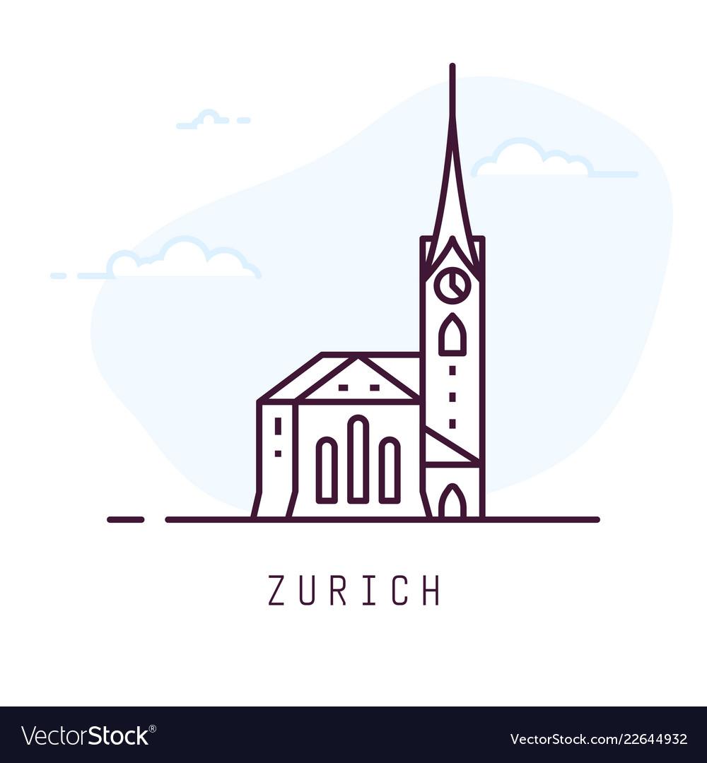 Zurich fraumunster line style