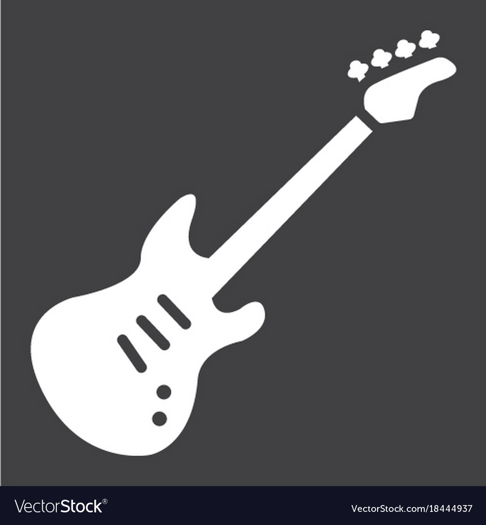 Bass guitar glyph icon music and instrument