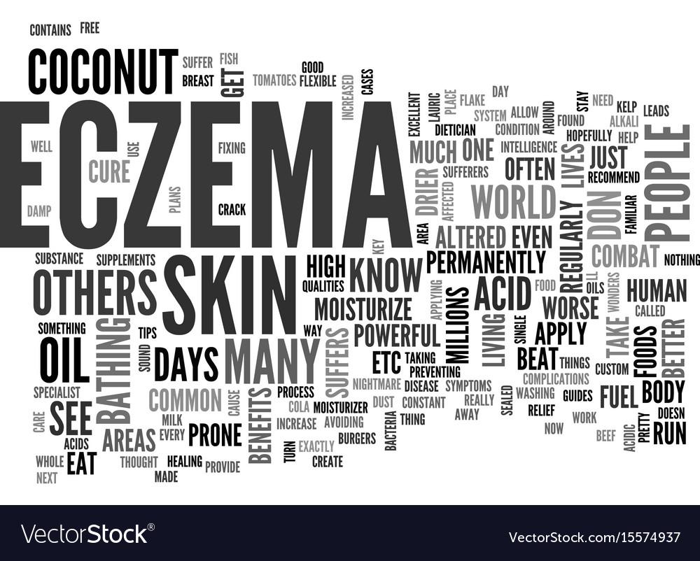 Beat your eczema skin disease now text word cloud