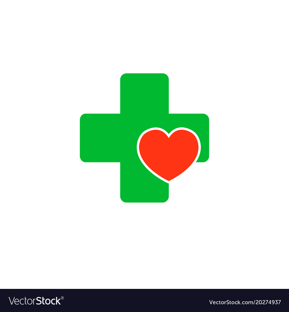 Cross with a heart logo for the clinic