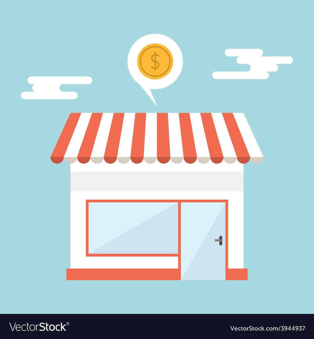 Flat design of small business concept House vector image