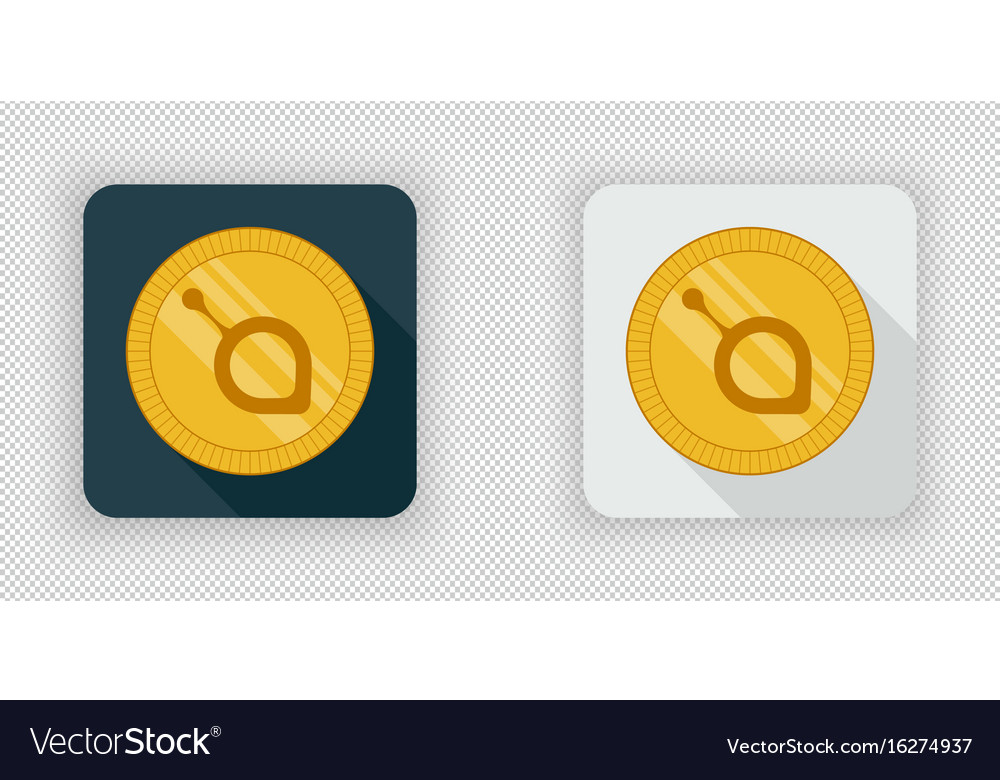 Light and dark siacoin crypto currency icon vector image