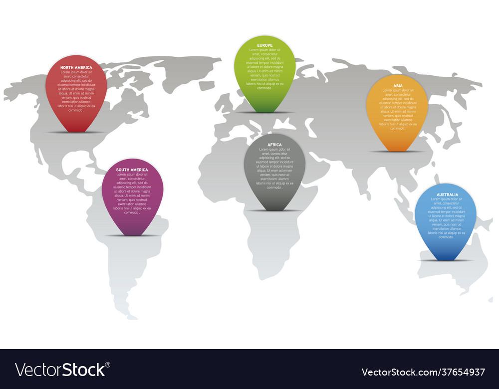 Modern 3d world map infographic template