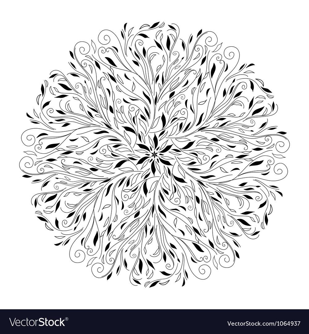 Monochrome black and white lace ornament